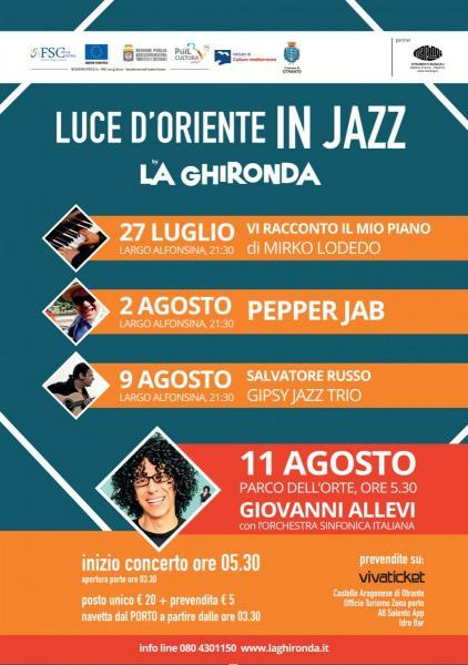 Luce D'Oriente in Jazz – Giovanni Allevi e l'Orchestra Sinfonica Italiana
